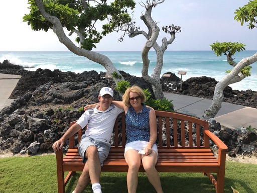 Directors Heather and Peter Wood at Hualalai GC, Big Island Hawaii