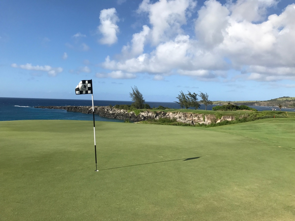 Kapalua- Bay Course- looking back from green to tee
