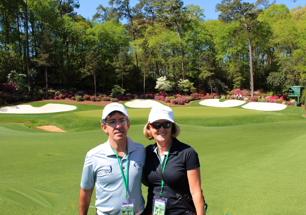 Directors Heather & Peter Wood at The Masters