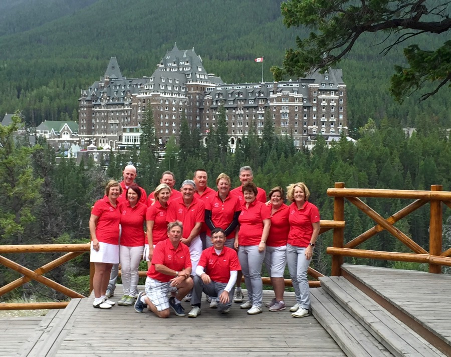 Group photo at The Fairmont Banff Springs Hotel