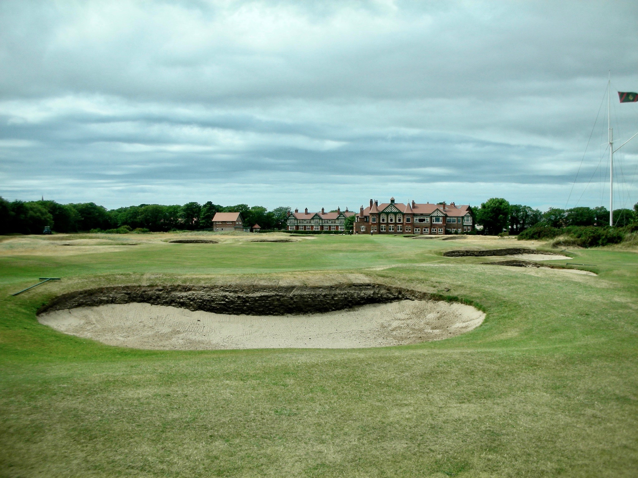 Royal Lytham & St Annes- 18th hole & clubhouse