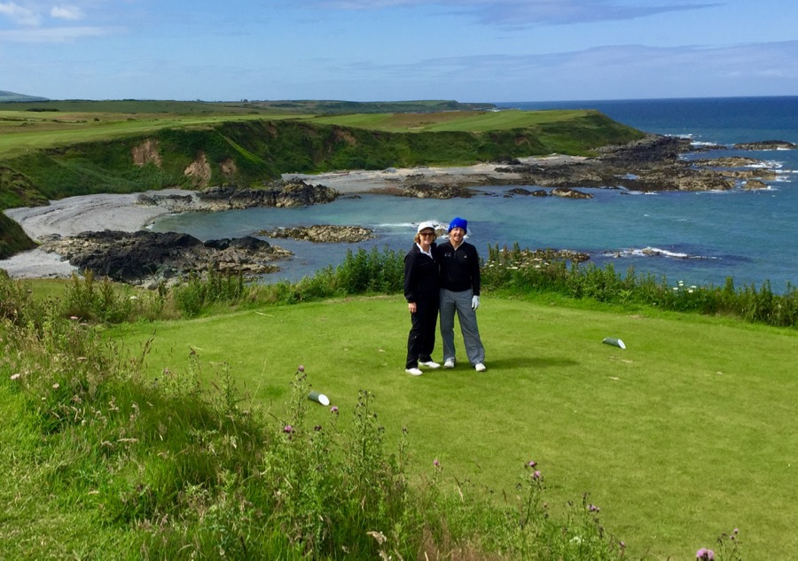 Directors Heather & Peter Wood at Nefyn & Districts GC, Wales