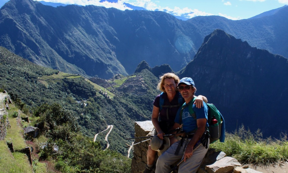 Heather and Peter at Machu Picchu