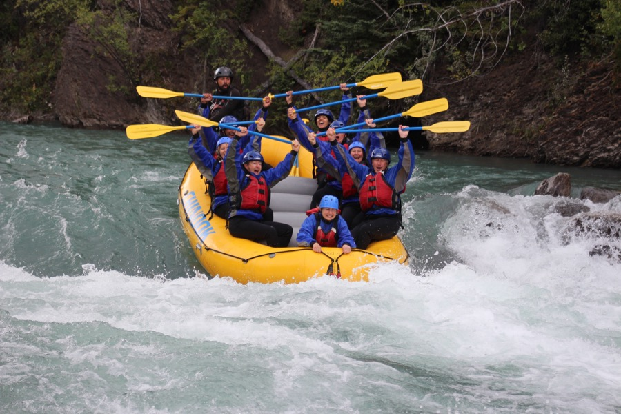White water rafting at Canmore