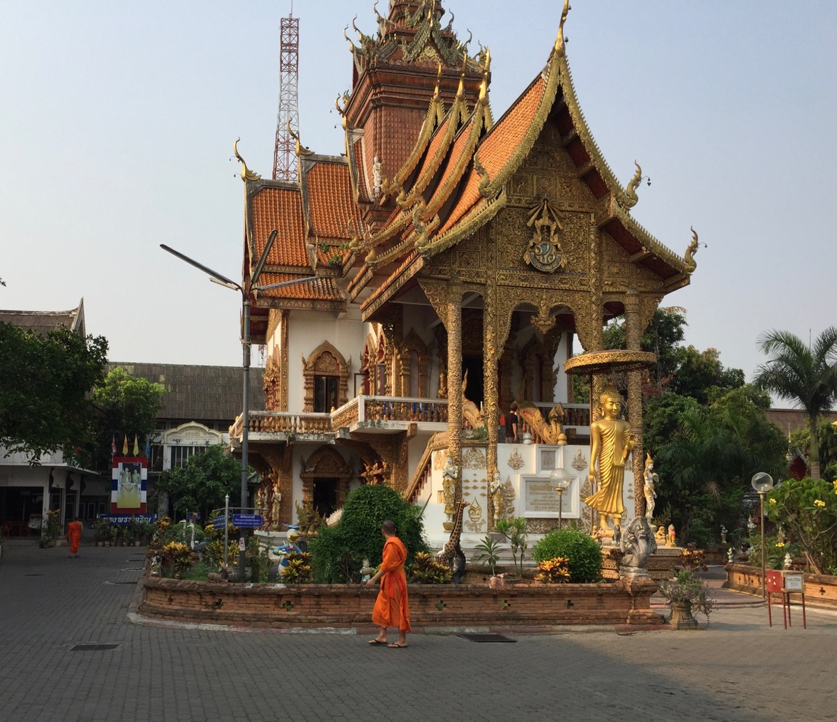 Priest & temple in Chiang Mai