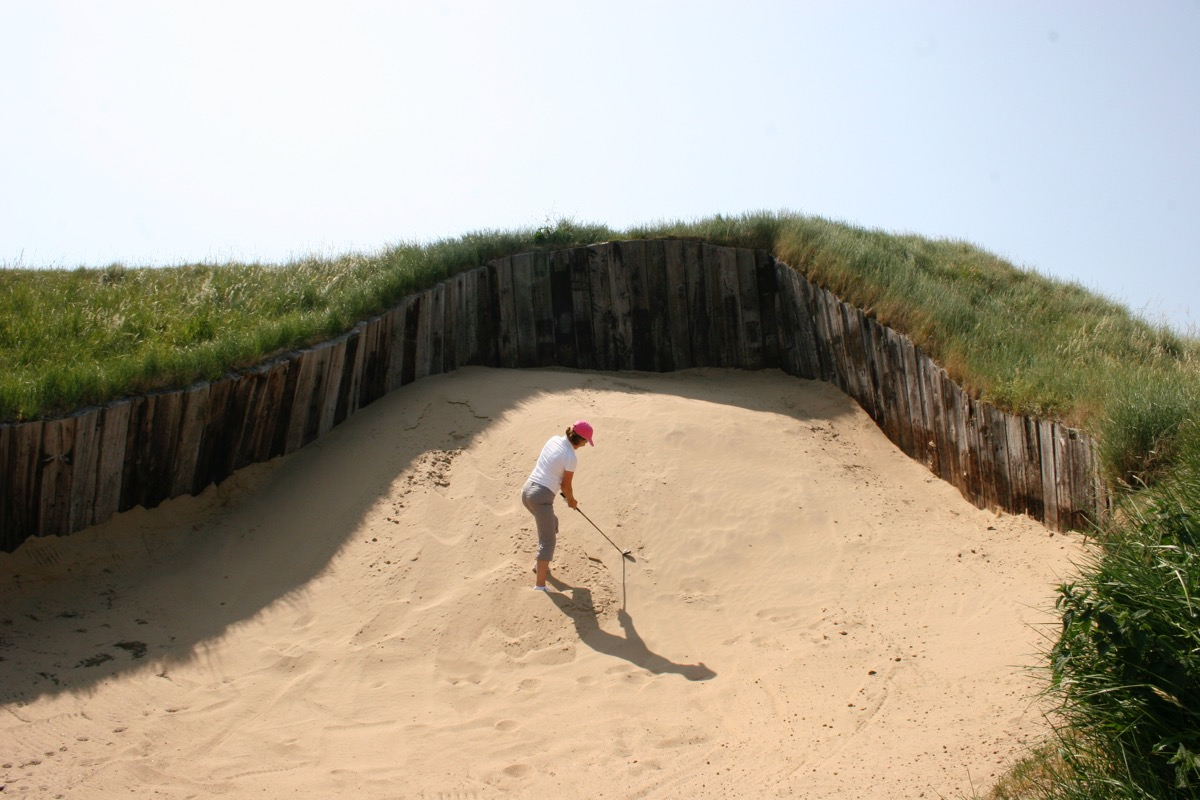 Now Thats a Hazard!- Bunkering at Royal St Georges GC