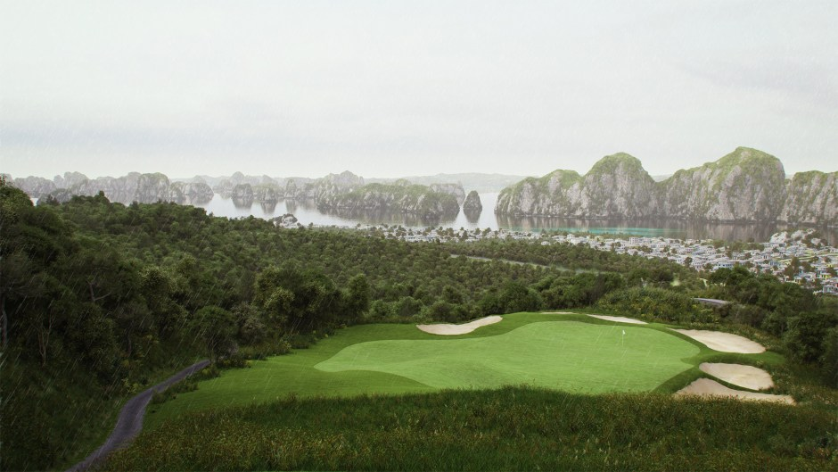 ha long bay golf club hole 8 rain