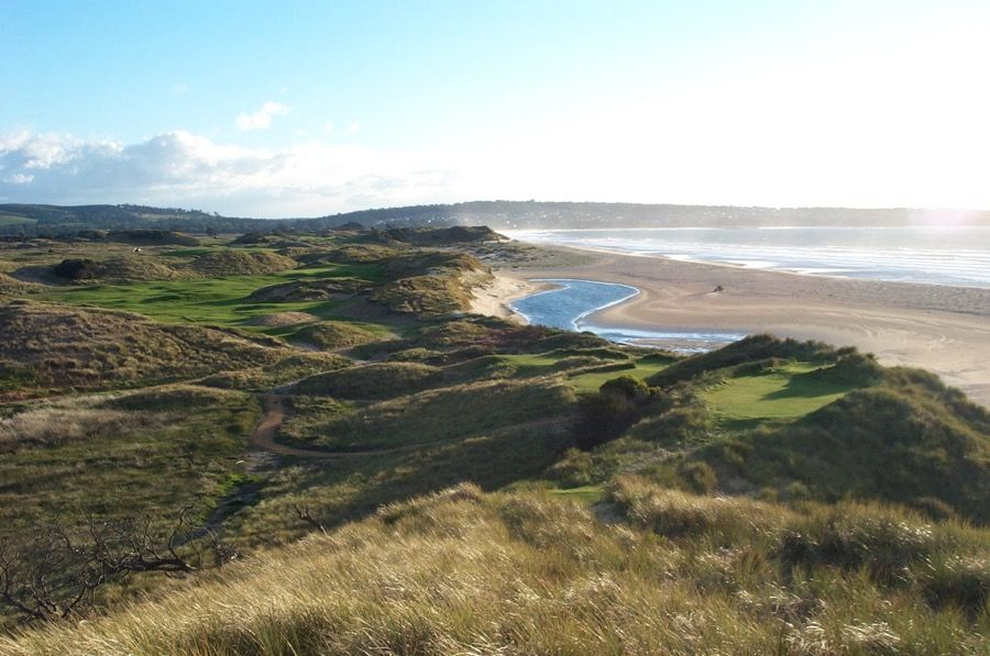 Barnbougle Dunes GC- hole 17 from top16 tee