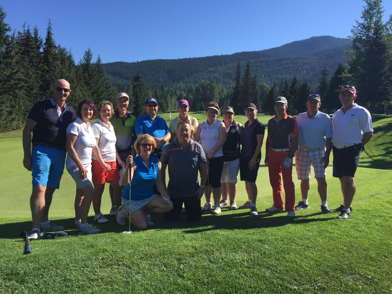 Group photo at Chateau Whistler GC