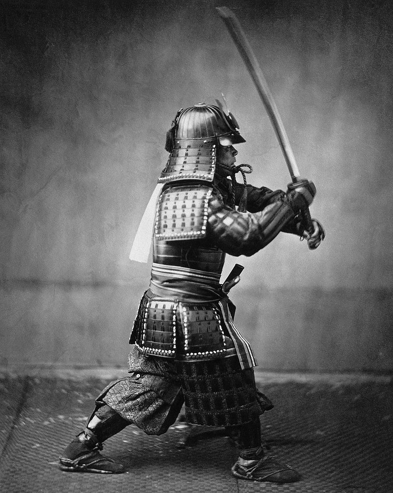 Samurai practicing his backswing!