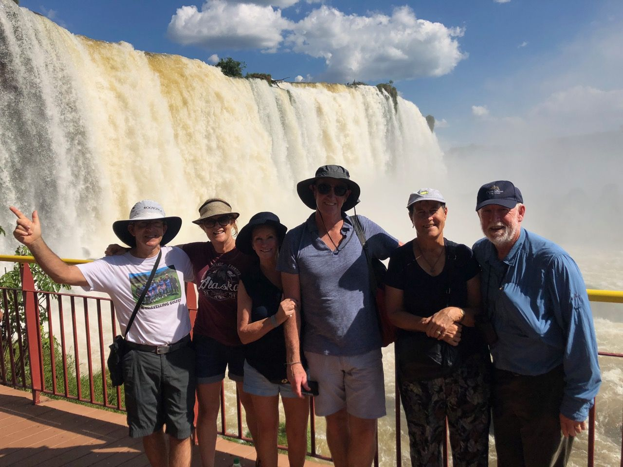 Iguazu Falls- Brazilian side- group photo
