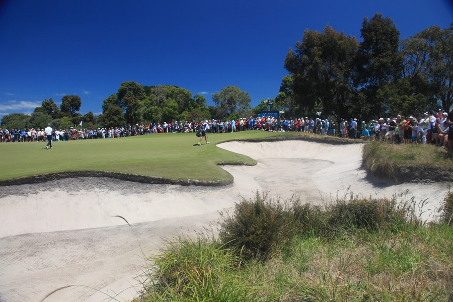The classic bunkering at Royal Melbourne GC
