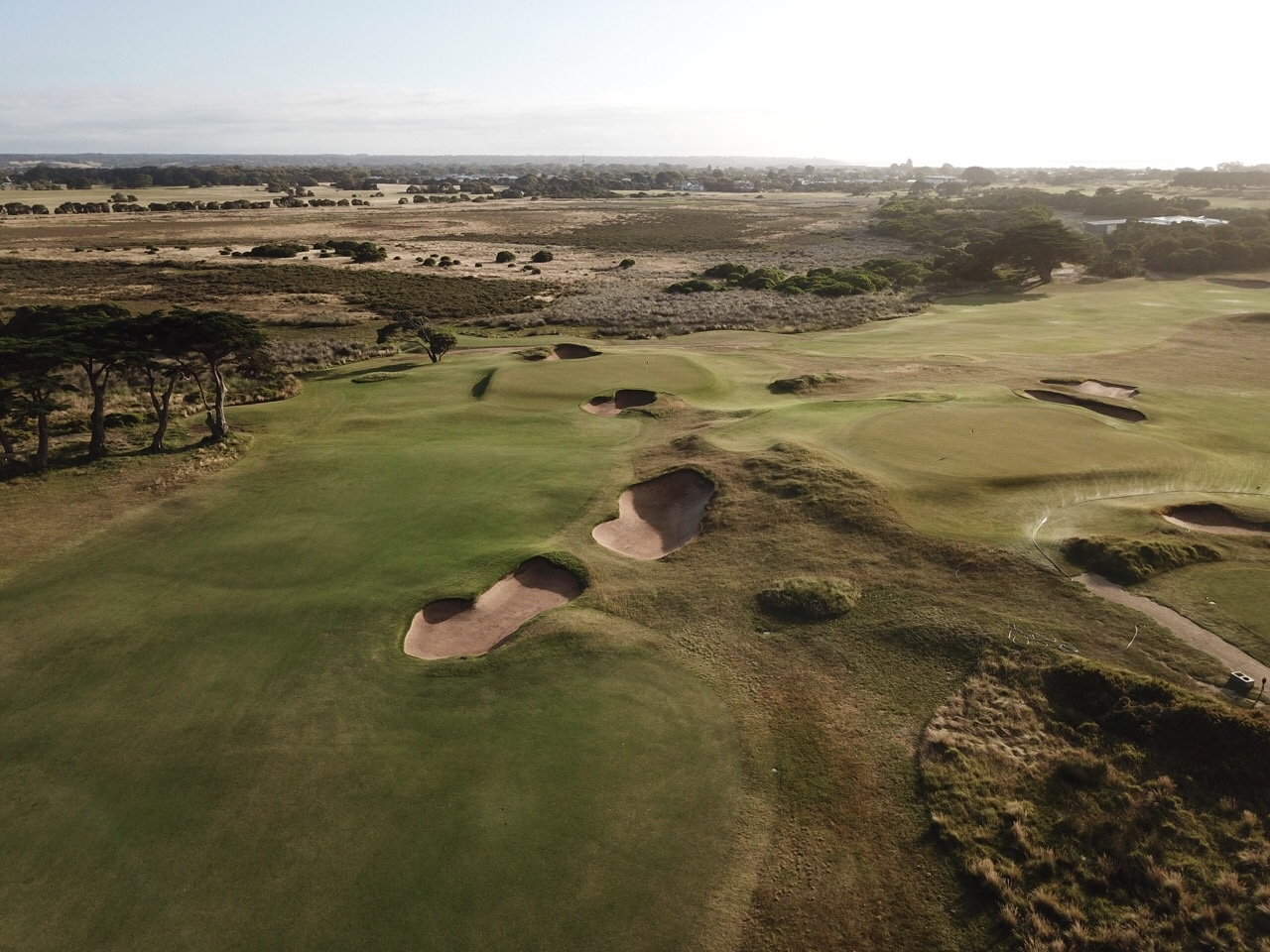 Barwon Heads- hole14 with 11 green in background