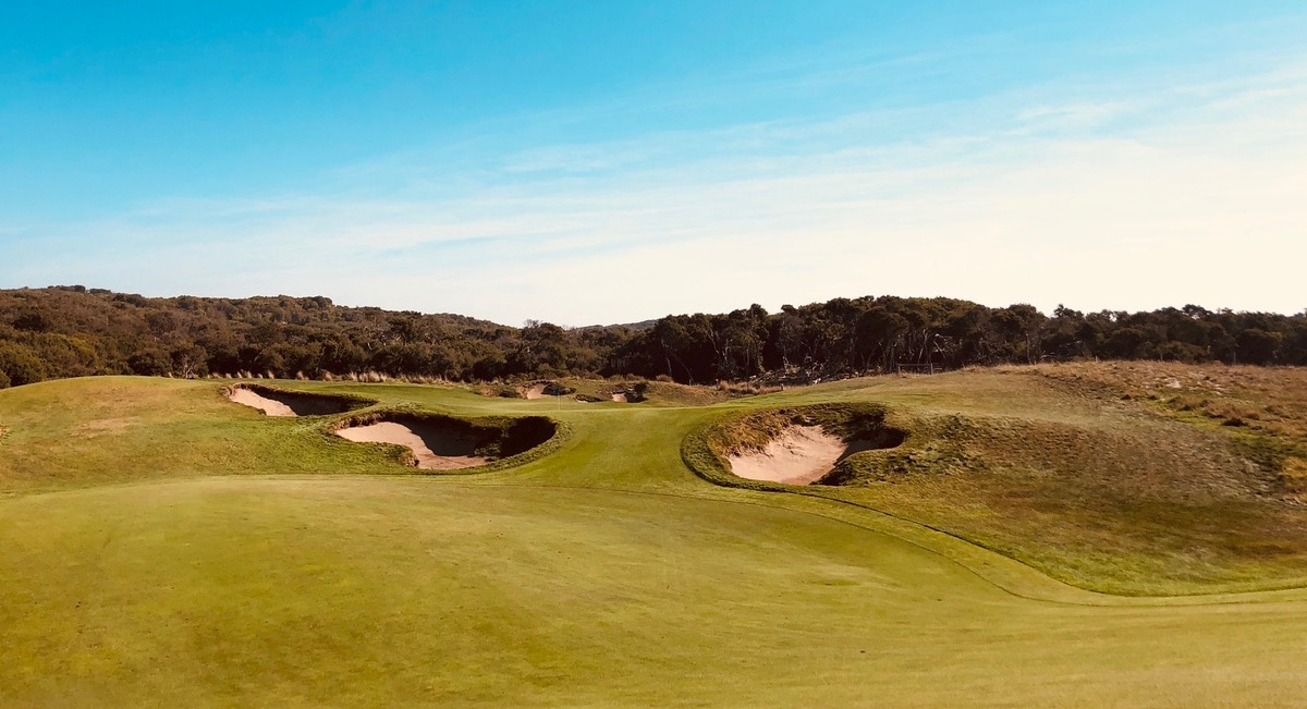 The National GC: Moonah Course- hole 11
