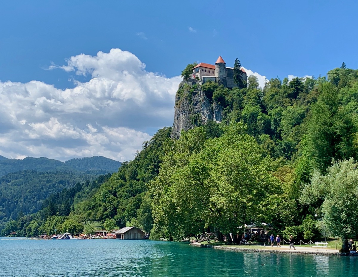 Bled Castle on high