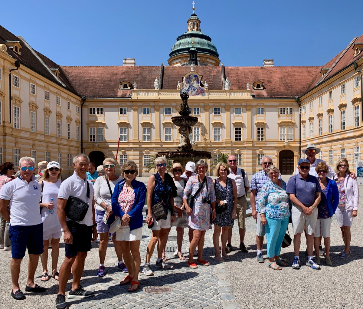 Group pic at Melk Abbey