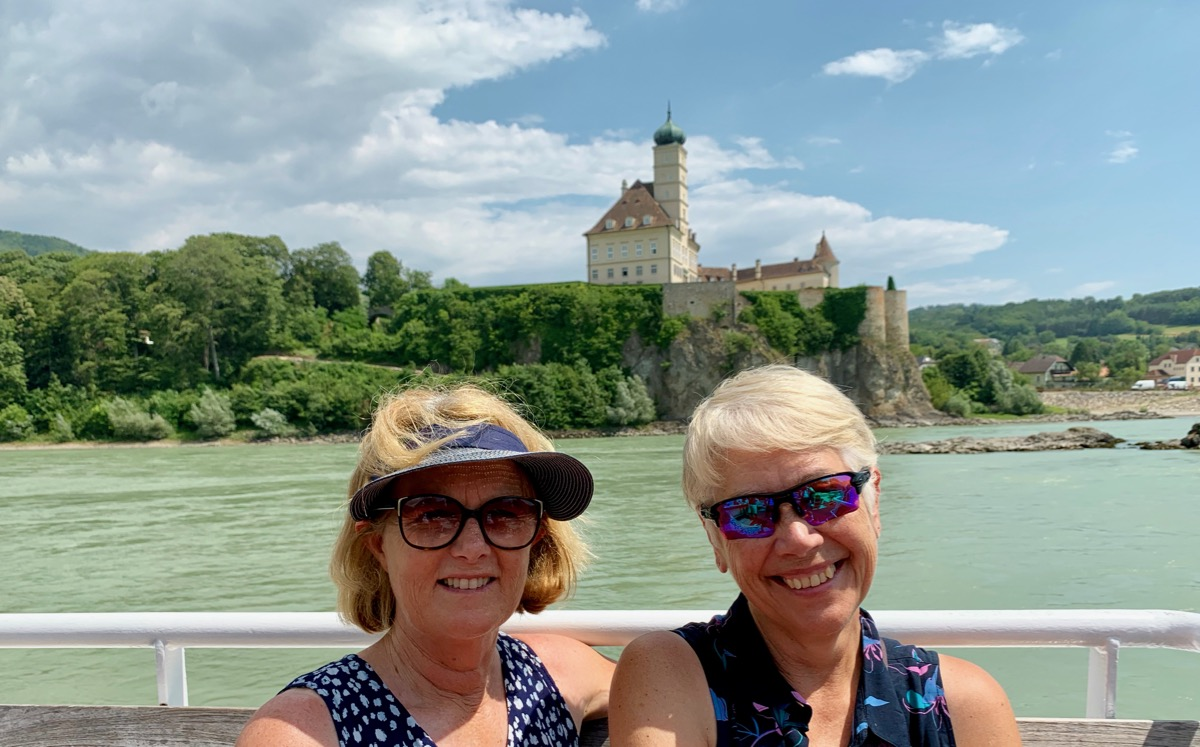 Two babes on The Danube