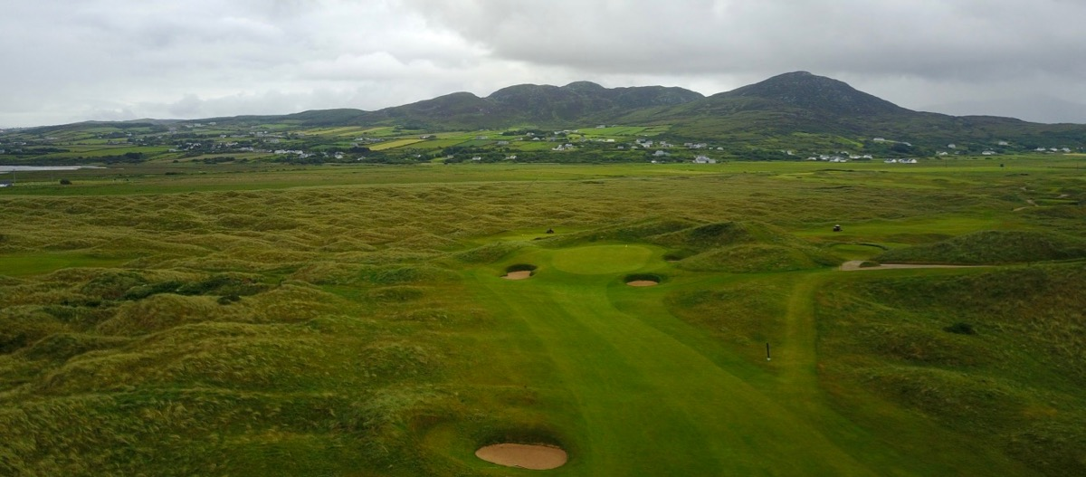 Ballyliffin- Glashedy Links- hole 6 approach