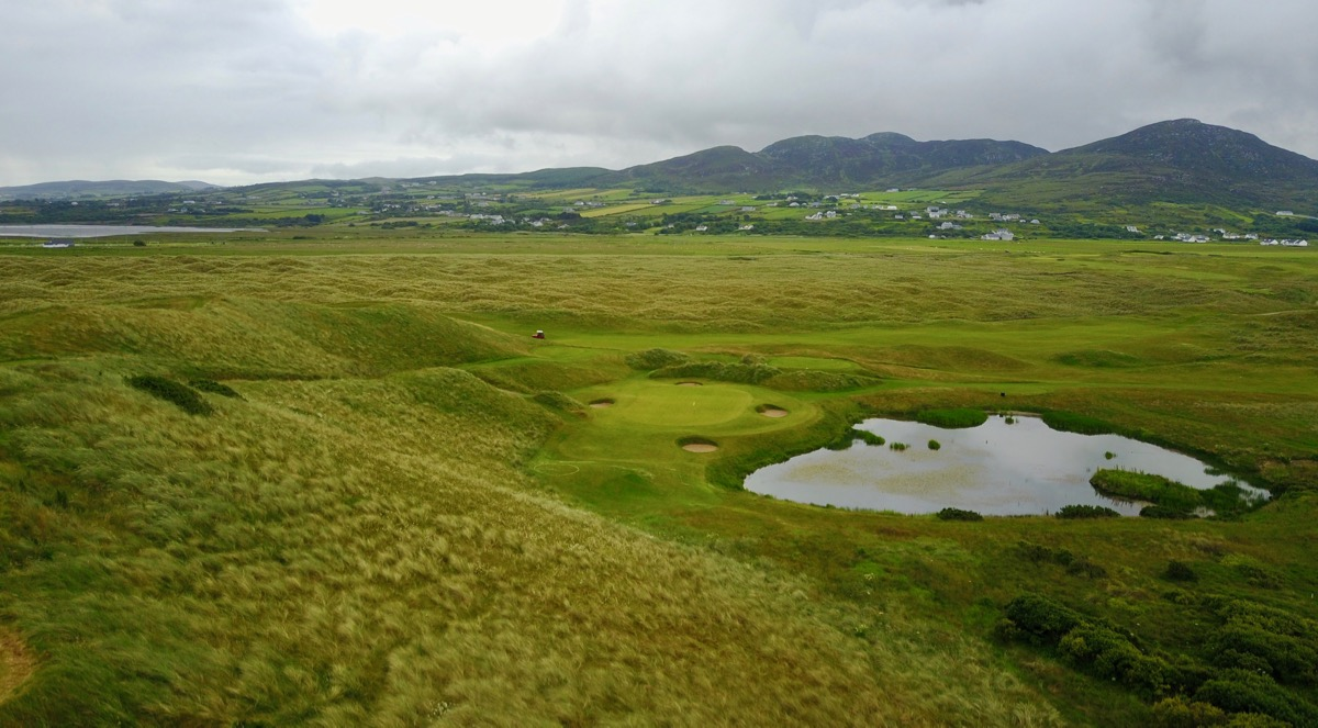Ballyliffin- Glashedy Links- hole 7 drone