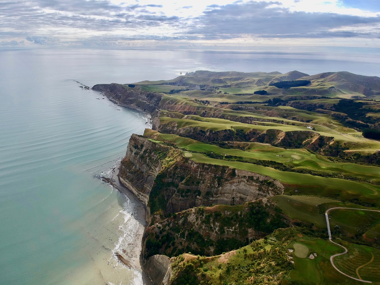 Cape Kidnappers coastline