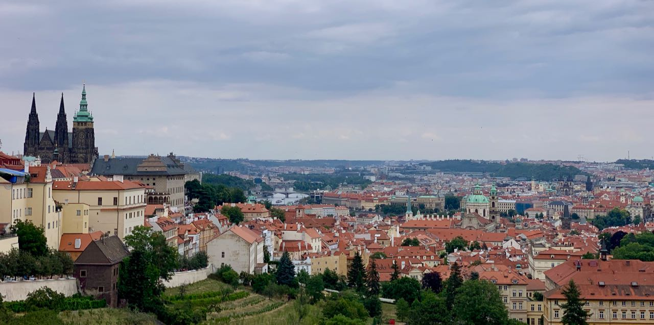 Prague: the view from the castle