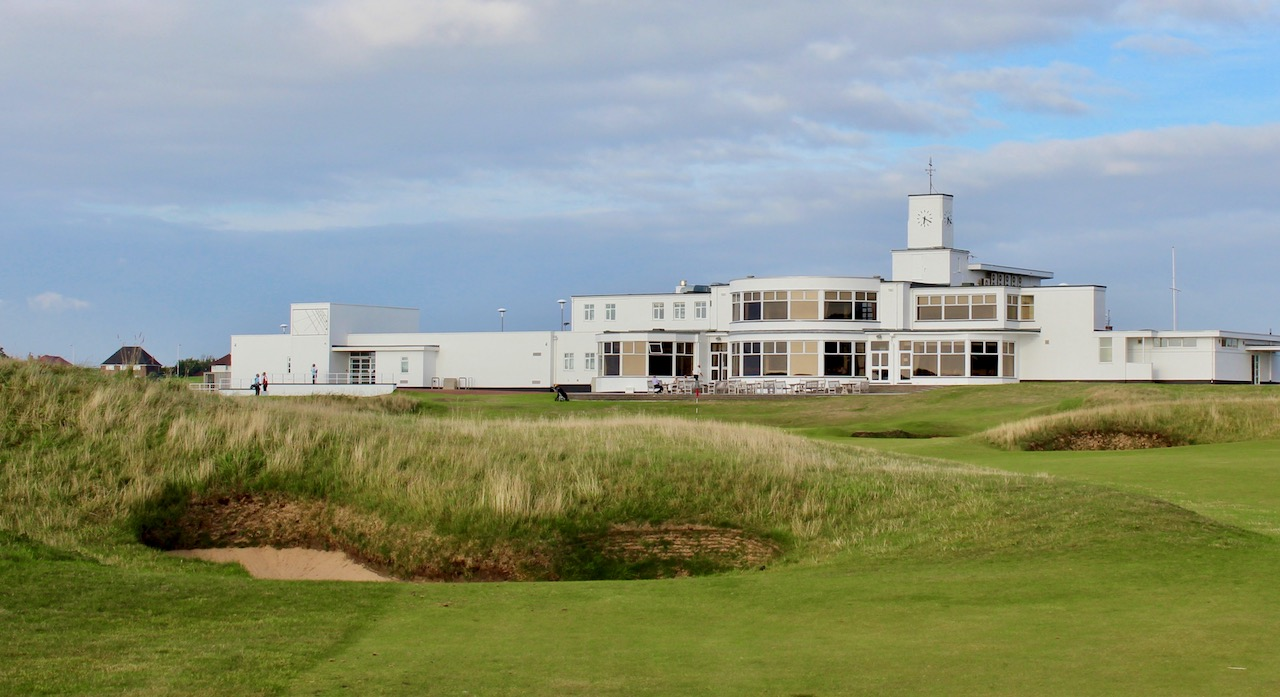 The clubhouse at Royal Birkdale GC