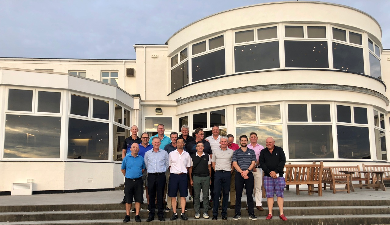 The group in front of Royal Birkdales clubhouse