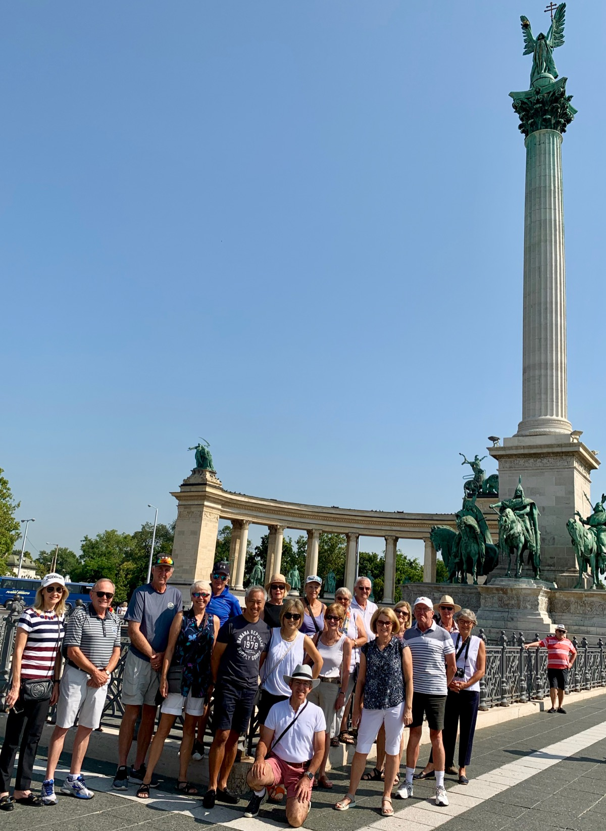 Budapest Group pic at Heroes Square