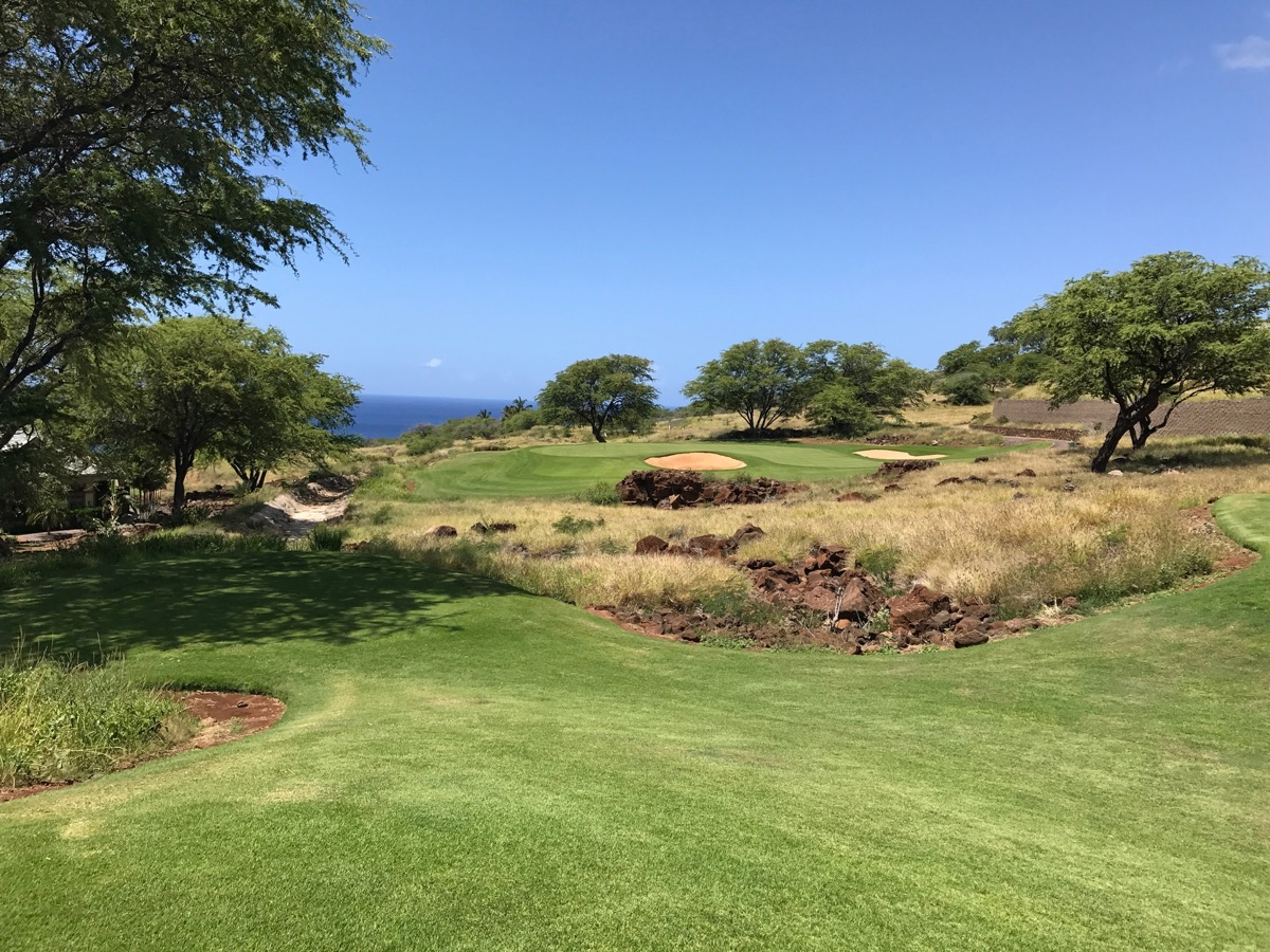 Lanai'i Golf Course, Manele- hole 3  from the tee