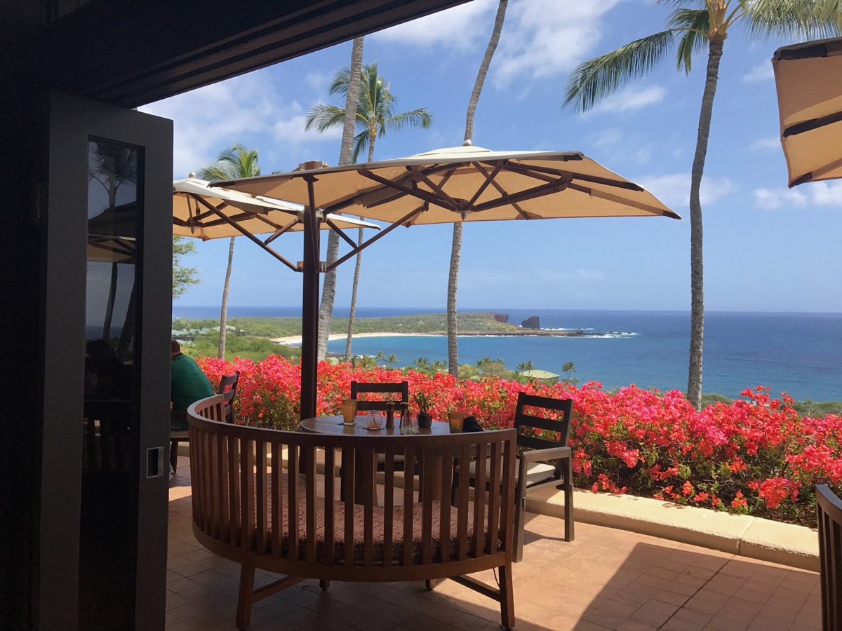 A lovely place for lunch- Lana'i Gol,f Manele