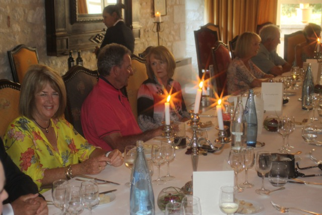Dining at Chateau des Vigiers