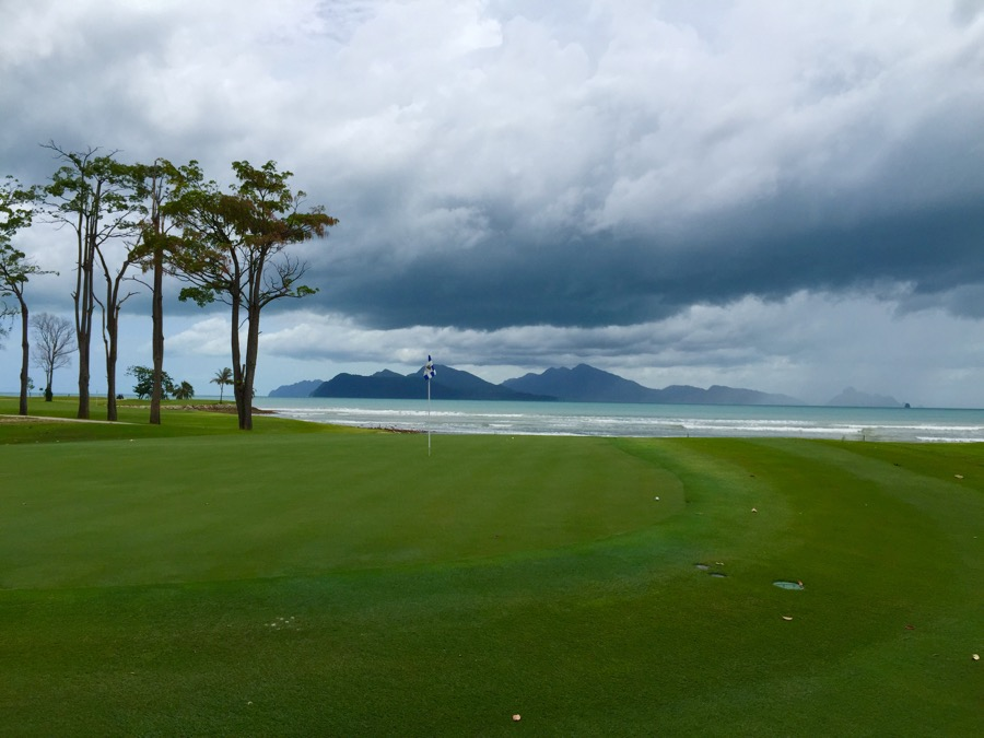 The Els Club- looking out to the Andaman Sea