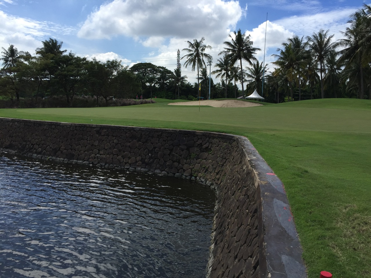 Damai Indah Golf-( PIK ) course- water is a major hazard...