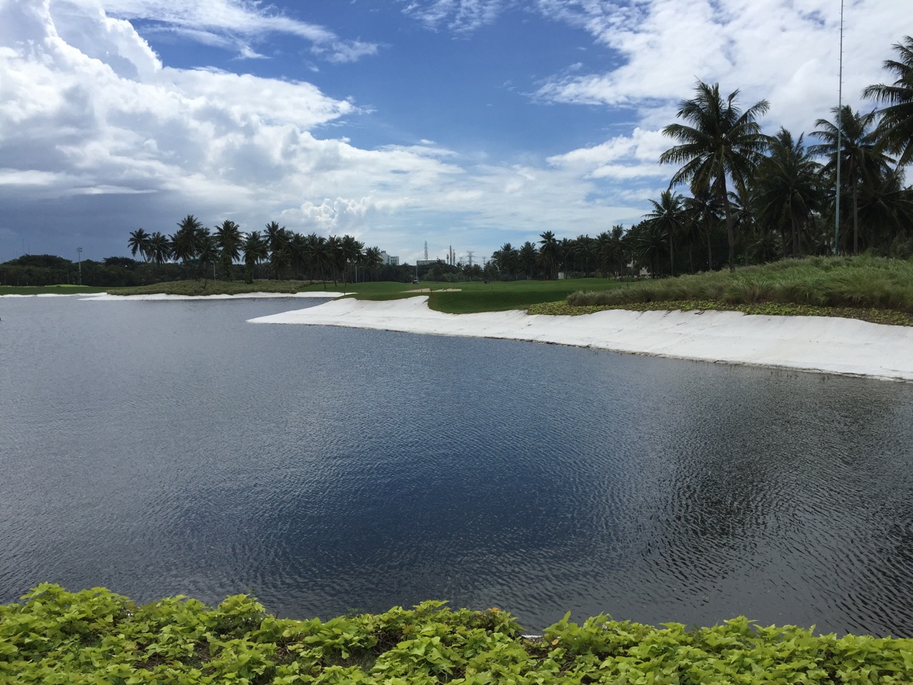 Damai Indah Golf ( PIK ) course- the edges of the lake are concrete, not sand!