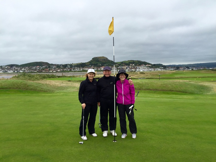 Conwy GC- with town behind