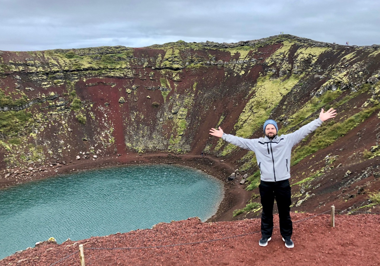 Kerid Crater, in the Golden Circle in Iceland