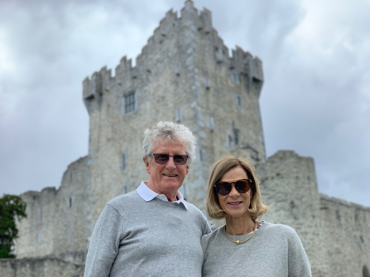 A portrait of Frank & Katrina at Ross Castle