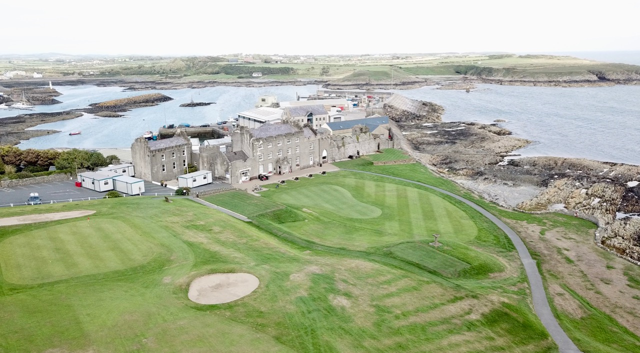 Ardglass GC- holes 18,  1 & clubhouse