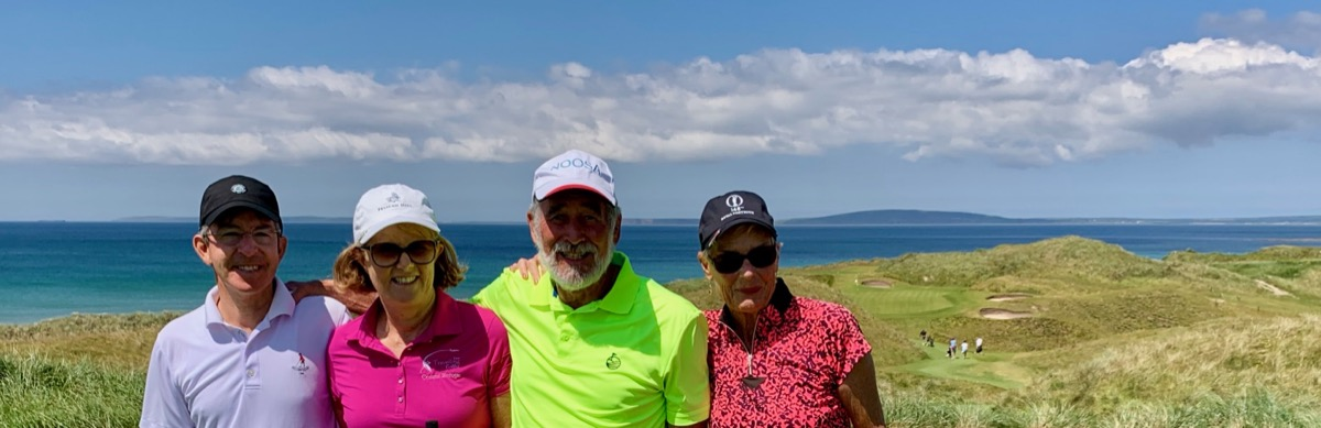 Ballybunion GC- Old Course: Peter ,Heather, Craig & Barb