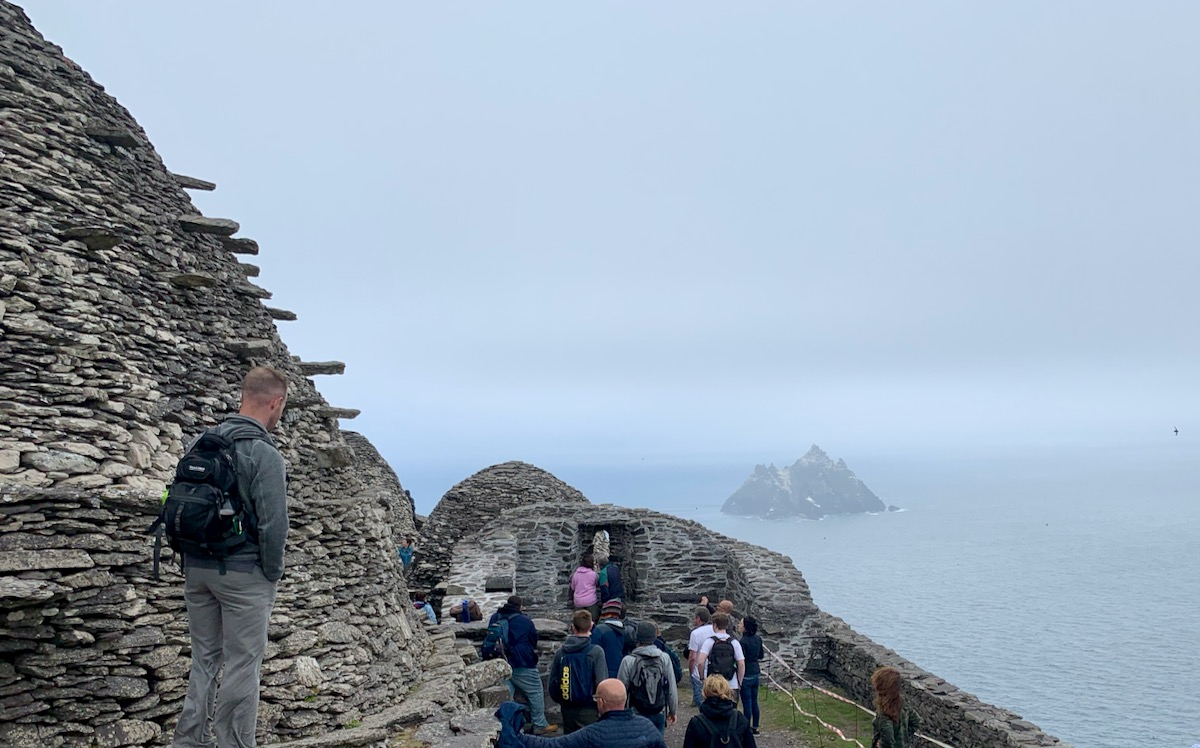 Monastery on Skellig Michael (with Little Skellig in the background)