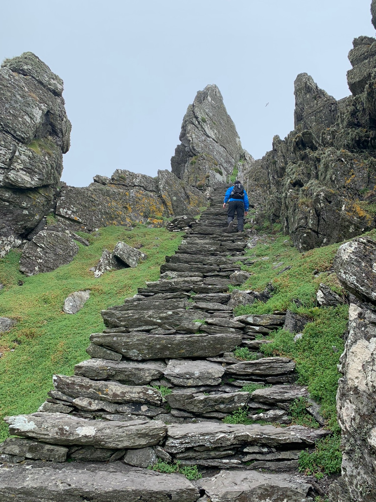 Skellig Michael is steep!