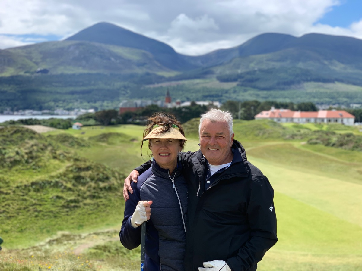 Wayno & Donna at Royal County Down