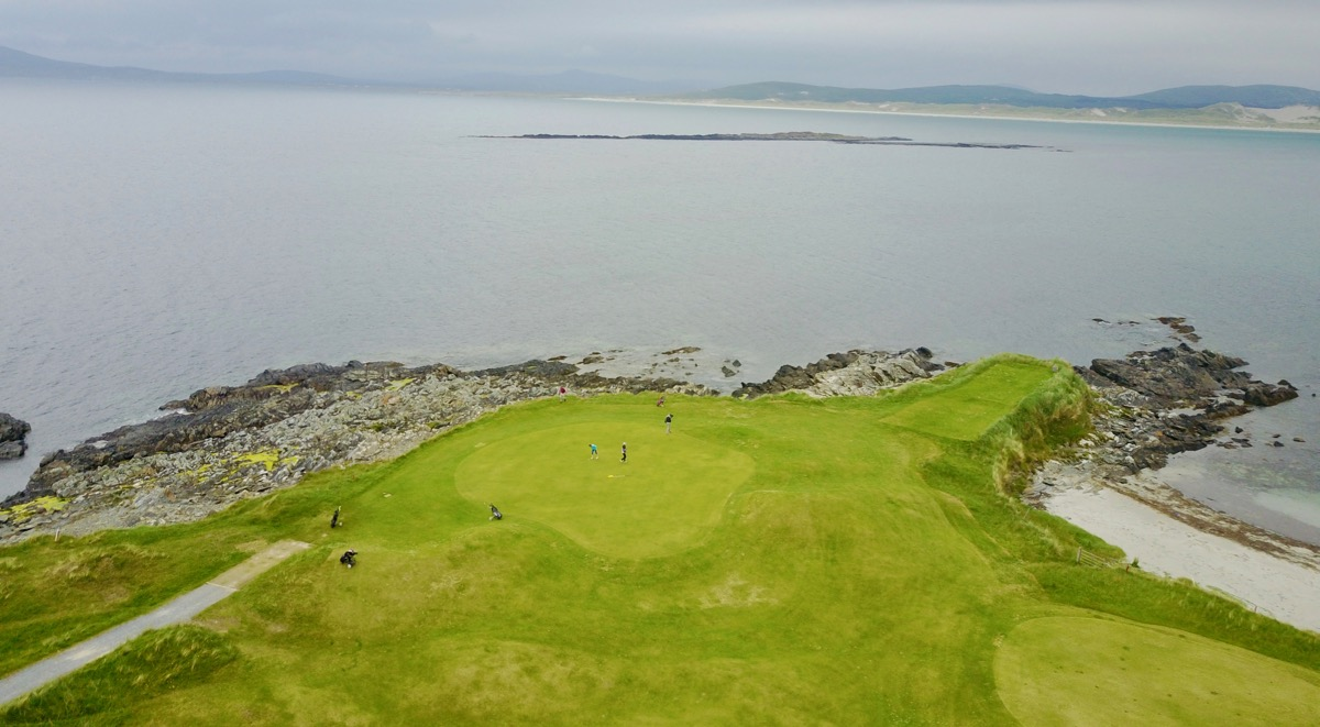 Narin & Portnoo GC- hole 8 by drone