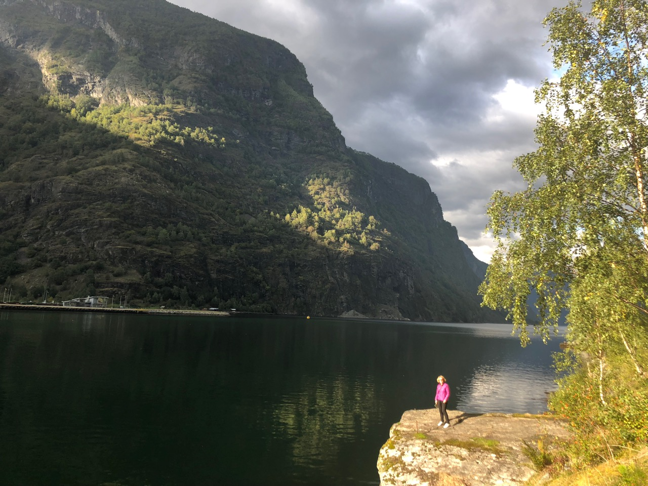Pretty girl on a rock in Flam