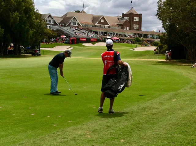 Royal Sydney GC- Tim Wood plays the final hole of The Australian Open