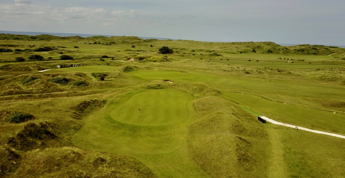 Saunton GC- East Course- hole 8 green