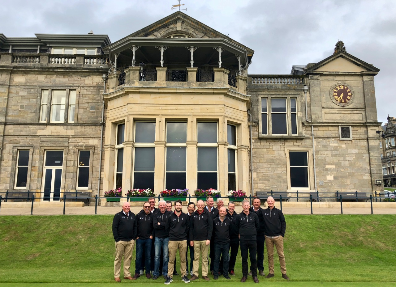 Group photo at The Old Course