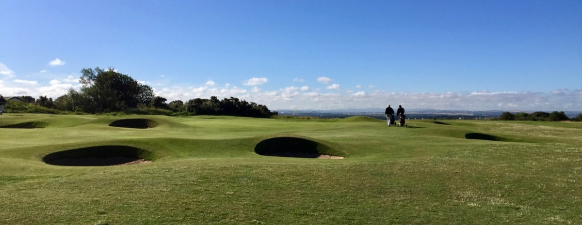 Gullane no 2; bunkers galore!