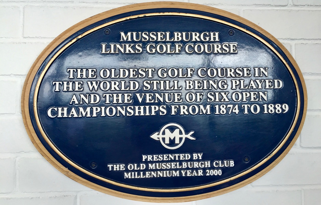 Musselburgh Links sign