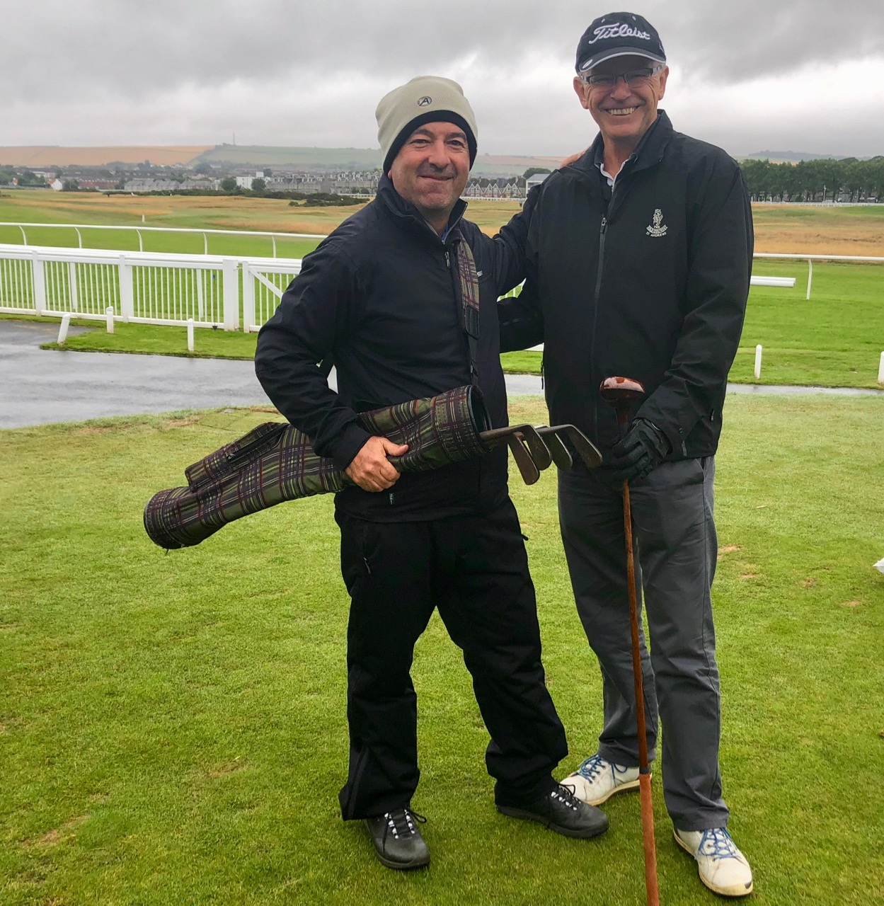 Playing with the hickories at Musselburgh Links